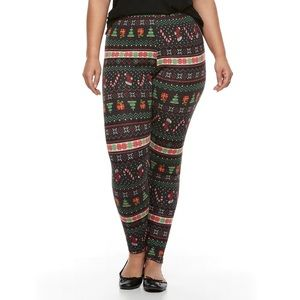 French Laundry Thermal Christmas Leggings